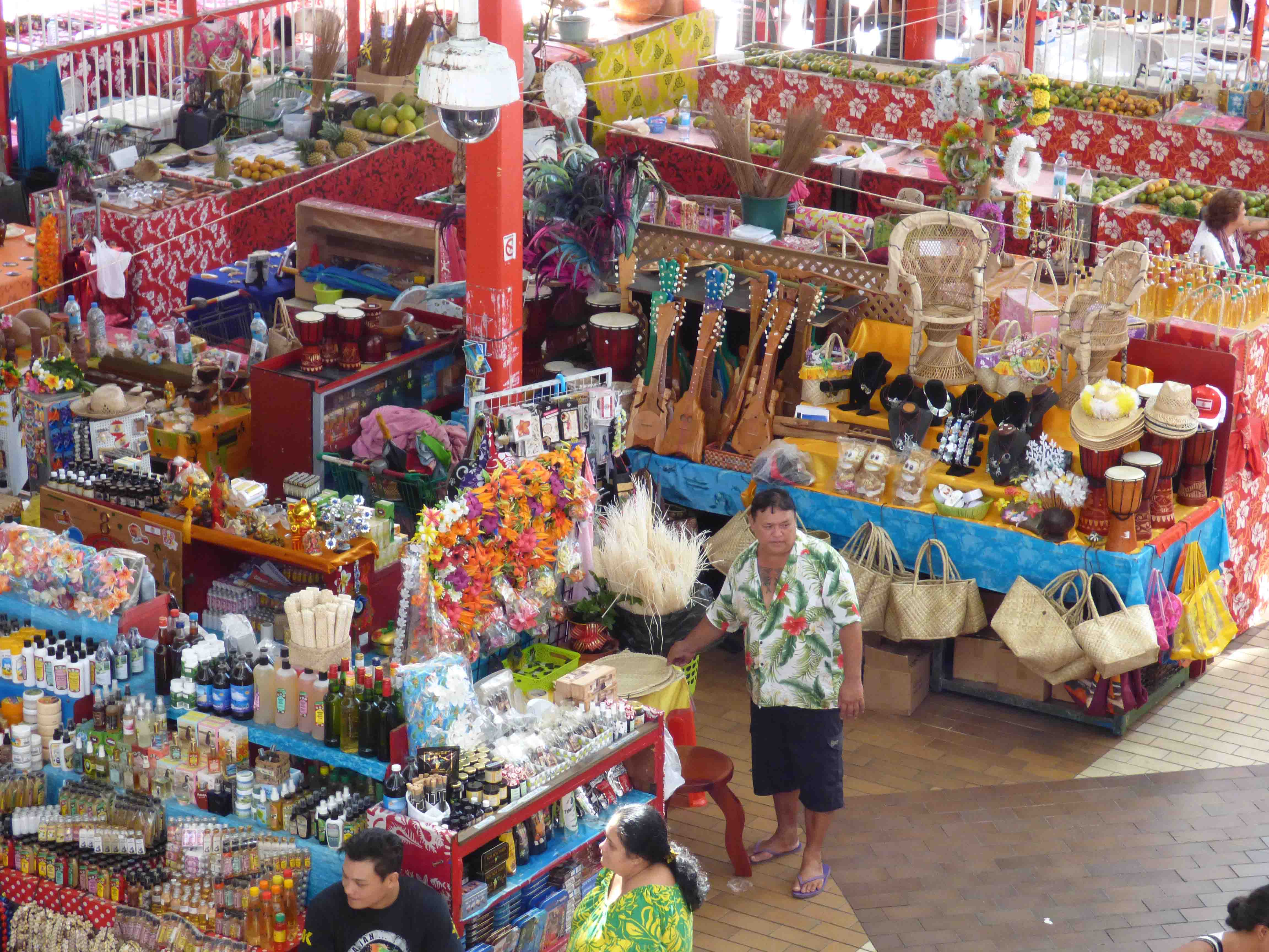 Stand marché Papeete