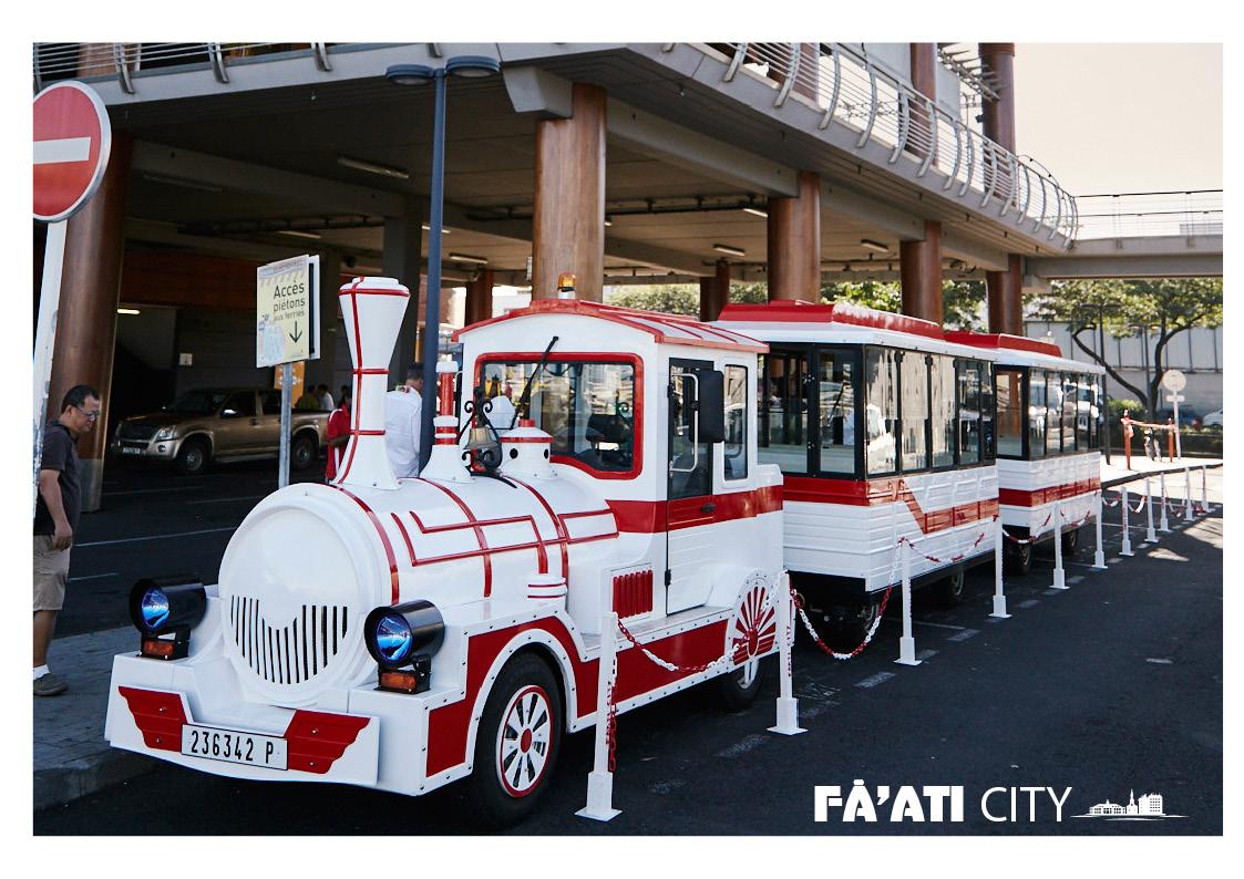 Excursion historique à Papeete. Le Petit train de Papeete